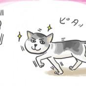 テレビ東京『爆笑問題の大変良くできました』で使用された絵です。憎たらしい目をしたネコは、金持ちの言う事は何でも聞きます。