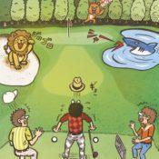 ゴルフダイジェスト2019年11月号に描いたイラスト